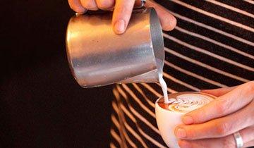 Esto no es un café con leche. Esto es un arte muy sabroso