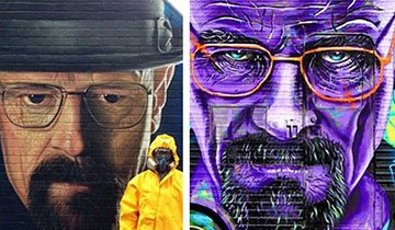 20 Piezas de arte urbano en honor a Breaking Bad