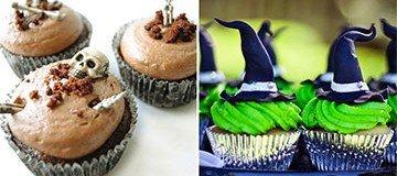 20 Ideas espeluznantes y sabrosas para tus cupcakes de Halloween.