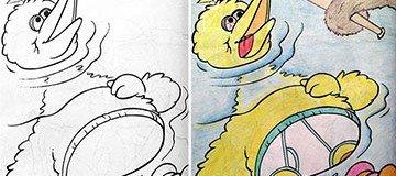 Esto es lo que ocurre cuando un adulto colorea dibujos infantiles ¡Muy Bueno!