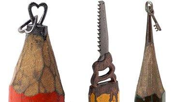 Esculturas usando la mina de los lápices. Paciencia y pasión. ¡Increíble!