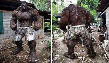 Impresionantes esculturas de metal recrean personajes famosos de películas