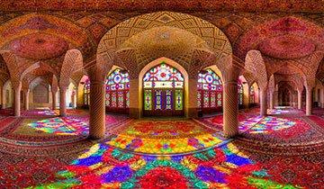 interiores mezquitas de Irán