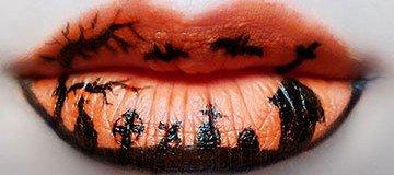 Bellas y espeluznantes ideas para pintar tus labios en Halloween.