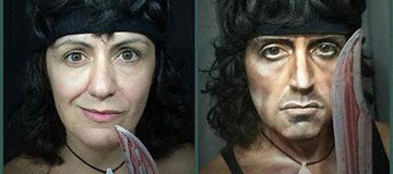 Esta mujer puede convertirte en personas completamente diferentes. ¡Qué talento!
