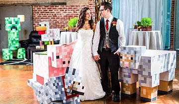 Matt y Asia's querían casarse y les unía un juego en común, Minecraft. ¿Resultado?