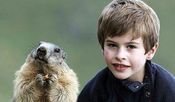 Este niño hizo un inusual grupo de amigos durante sus vacaciones