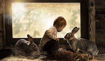 La conexión de estos niños con los animales es como poco, mágica. Sin palabras