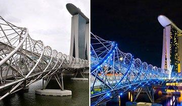 25 Hermosas obras de arquitectura que cobran vida por la noche