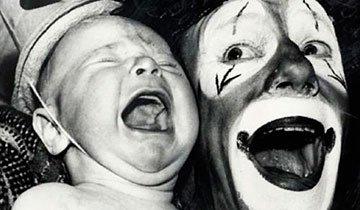 20 Fotos antiguas de payasos que producen más miedo que sonrisas. Hola pesadillas