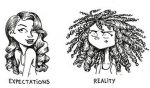 expectativa vs realidad cabello