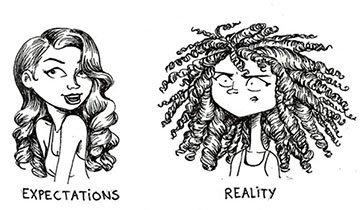 Expectación vs realidad de peinados y productos para el cabello