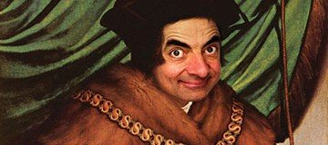 Artista digital recrea retratos históricos con la cara de Mr. Bean
