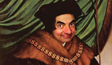 Artista digital recrea retratos históricos con la cara de Mr. Bean