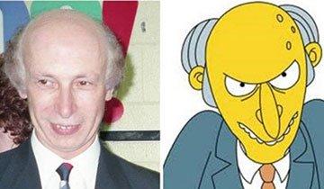 16 Personas que tienen un doble en Los Simpson. ¡Son iguales!