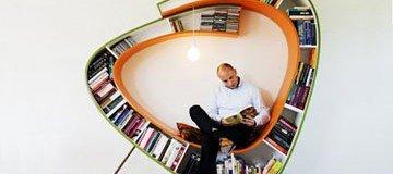 Muebles y estanterías creativas donde guardar tus libros con estilo. Son geniales.