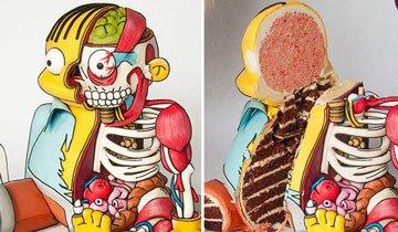 Ralph Wiggum de Los Simpson se convierte en un inquietante pastel. Buen cambio. ¡Ouch!
