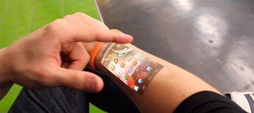 Este invento novedoso te permitirá consultar tu móvil desde la piel de tu brazo.