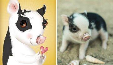 Ilustrador dibuja las mascotas basándose en la personalidad de cada animal.