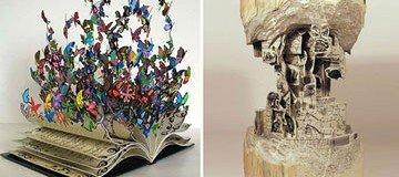 20 Hermosos ejemplos de libros que se convirtieron en esculturas.