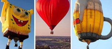 ¿Creías que los todos los globos aerostáticos eran iguales? Alucina con estos.