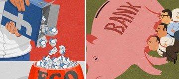 20 Ilustraciones satíricas que nos muestran la realidad de nuestro mundo actual.