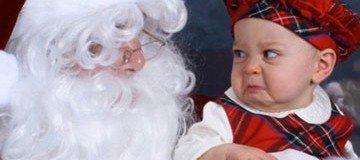 20 Niños que definitivamente no querían hacerse una foto con Papá Noel.