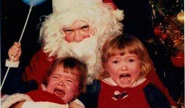 25 Fotografías antiguas de Papá Noel que te harán temer la noche de Navidad.