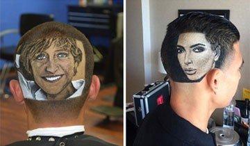Este barbero es capaz de afeitarte la cabeza recreando a cualquier celebridad que desees.