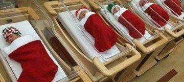 Así recibieron la noche de Navidad a los bebés recién nacidos en este hospital.
