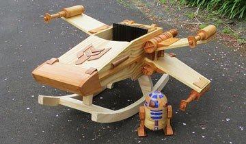 La mecedora que todo fan de Star Wars querría para entretener a sus hijos. Y a él mismo.
