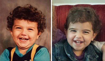20 Fotos de padres e hijos a la misma edad. No hacen falta más pruebas, son clones.