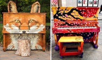 20 Bellos pianos callejeros de alrededor del mundo donde puedes tocar al aire libre.