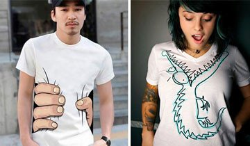 25 Camisetas con diseños tan creativos que te resfriarás en invierno sólo para lucirlas.