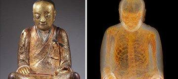 Lo que descubrieron dentro de esta estatua de Buddha en un museo, es raro e impactante.