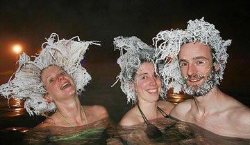 El frío de Canadá y sus fuentes termales permiten crear estos locos peinados.