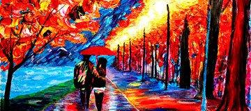 Pintor ciego usa el tacto y la textura para crear pinturas increíblemente coloridas.