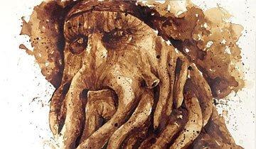 A esta artista le gusta tanto el café, que incluso lo utiliza para sus pinturas.
