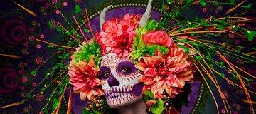 Las Muertas: Bellezas mortales que representan un tributo para el Día de Muertos.