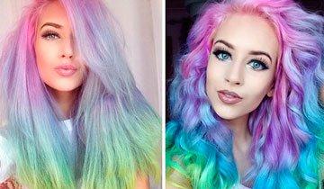 Colores pastel y los colores del arco iris son las nuevas tendencias en coloración capilar.