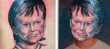 Así se verían estas personas si fueran tal y como se muestran en estos horribles tatuajes.