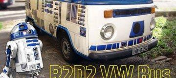 Convierten una vieja VW Camper en un R2-D2 de cuatro ruedas.