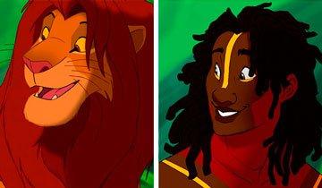 Así podrían ser los animales de Disney si fuesen humanos.