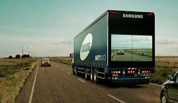 Este camión de seguridad de Samsung podría salvar muchas vidas en la carretera.