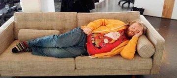 siesta en el trabajo
