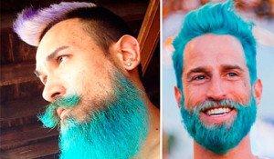 hombres pelo de colores