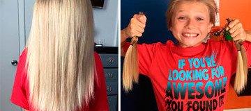 Se burlaron de este niño de 8 años por dejarse el pelo largo. Pero sus razones son heroicas.