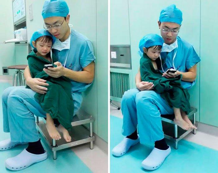 cirujano-calma-nina-antes-operar-1