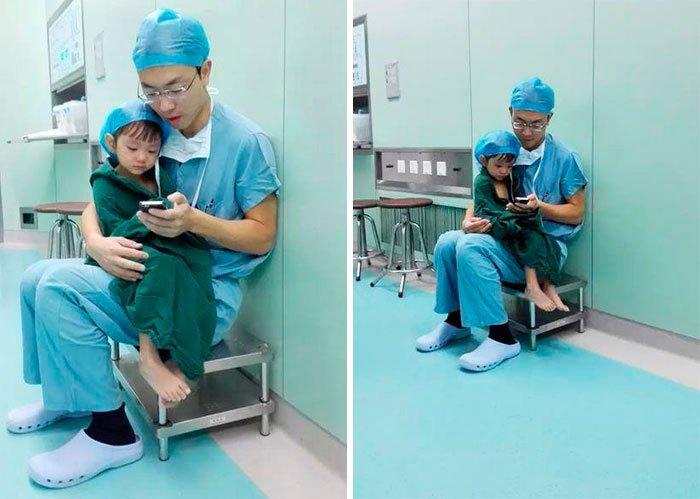cirujano-calma-nina-antes-operar-2