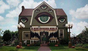 Convierte casa de sus padres en una casa que bien podría ser de una película de Tim Burton.